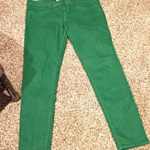 Abercrombie and Fitch Green Skinny Jeans